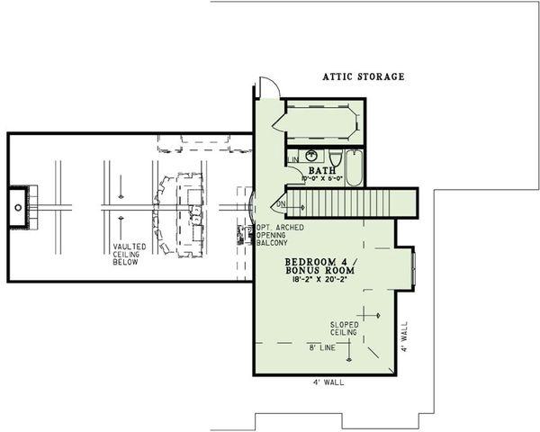 European Floor Plan - Upper Floor Plan #17-2496