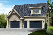 Traditional Style House Plan - 1 Beds 1 Baths 683 Sq/Ft Plan #25-4622 Exterior - Front Elevation
