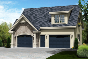 Traditional Exterior - Front Elevation Plan #25-4622