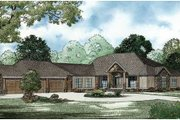 Craftsman Style House Plan - 4 Beds 4.5 Baths 5144 Sq/Ft Plan #17-2358 Exterior - Front Elevation