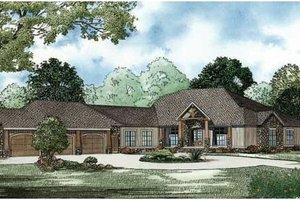 Craftsman Exterior - Front Elevation Plan #17-2358