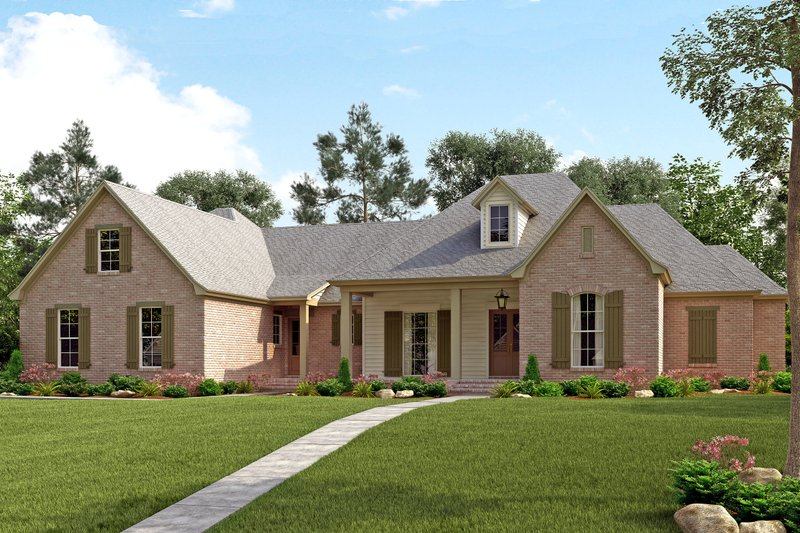 Dream House Plan - Traditional Exterior - Front Elevation Plan #430-127
