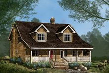 Architectural House Design - Country Exterior - Front Elevation Plan #427-1
