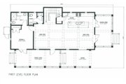 Beach Style House Plan - 4 Beds 4.5 Baths 2359 Sq/Ft Plan #443-9 Floor Plan - Main Floor Plan