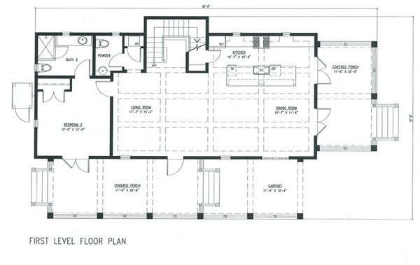 Beach Floor Plan - Main Floor Plan Plan #443-9