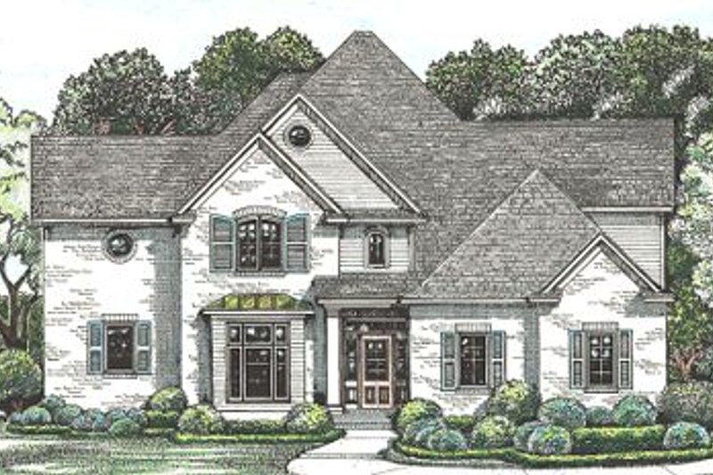 European Exterior - Front Elevation Plan #20-260