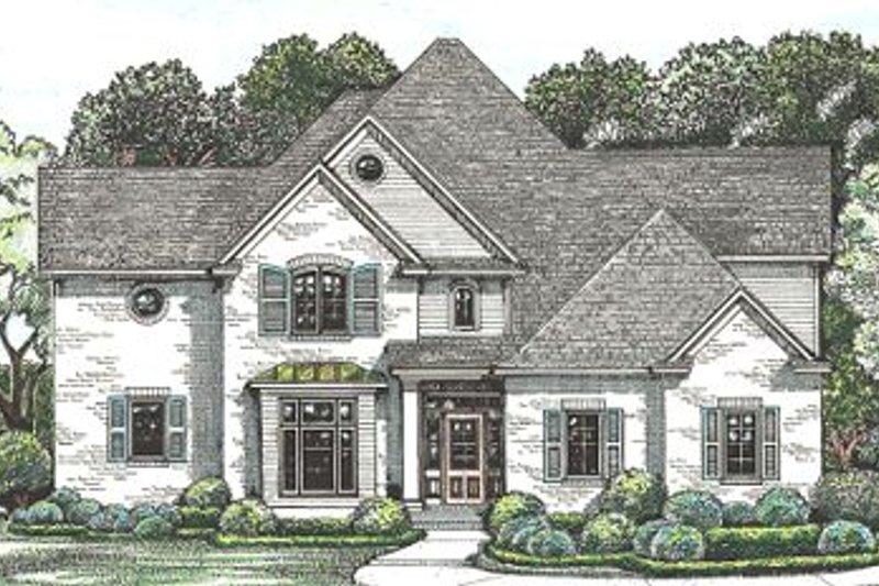 Architectural House Design - European Exterior - Front Elevation Plan #20-260