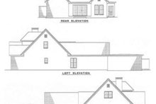 House Plan Design - Traditional Exterior - Rear Elevation Plan #17-211