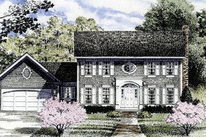 Colonial Exterior - Front Elevation Plan #316-123