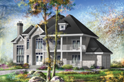 Traditional Style House Plan - 3 Beds 2 Baths 4867 Sq/Ft Plan #25-4633 Exterior - Front Elevation