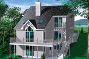 Contemporary Style House Plan - 4 Beds 3 Baths 2066 Sq/Ft Plan #25-3043 Exterior - Front Elevation