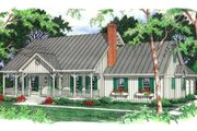 Country Style House Plan - 3 Beds 2.5 Baths 2117 Sq/Ft Plan #406-152 Exterior - Front Elevation