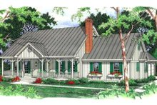 House Design - Country Exterior - Front Elevation Plan #406-152