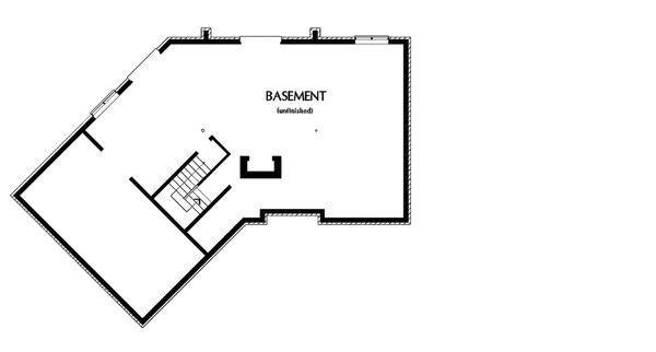 Dream House Plan - Unfinished Basement