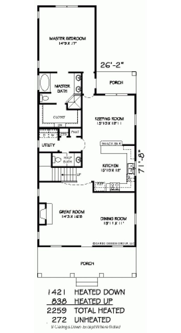 Farmhouse Floor Plan - Main Floor Plan Plan #424-203