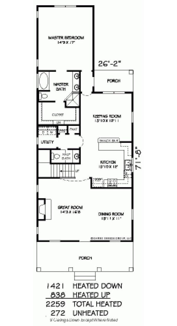 Farmhouse Floor Plan - Main Floor Plan Plan #424-203