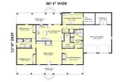 Southern Style House Plan - 3 Beds 2 Baths 2091 Sq/Ft Plan #44-144 Floor Plan - Main Floor Plan