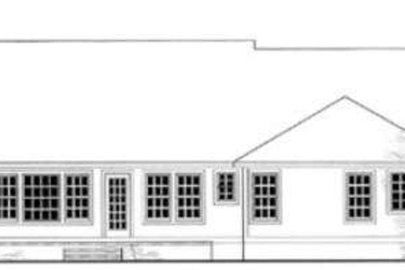 Southern Exterior - Rear Elevation Plan #406-212 - Houseplans.com