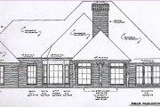 European Style House Plan - 4 Beds 3.5 Baths 2701 Sq/Ft Plan #310-547 Exterior - Rear Elevation