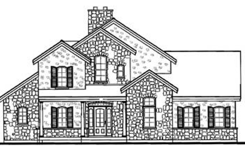Traditional Exterior - Rear Elevation Plan #23-250 - Houseplans.com