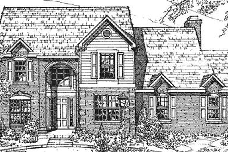European Exterior - Front Elevation Plan #320-423