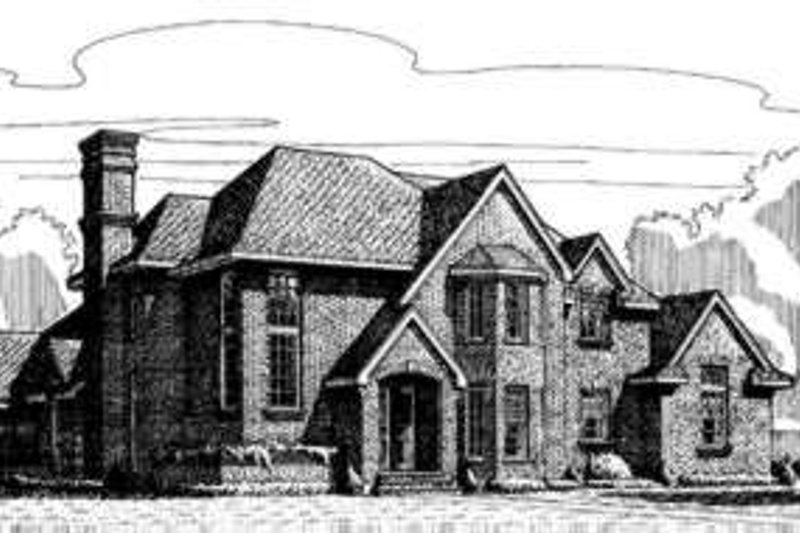 European Exterior - Front Elevation Plan #410-413