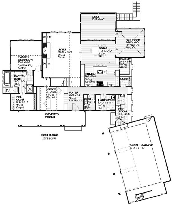 Country style house plan design