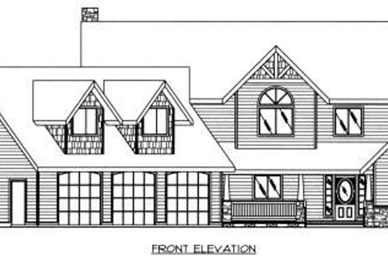 Country Exterior - Other Elevation Plan #117-577 - Houseplans.com