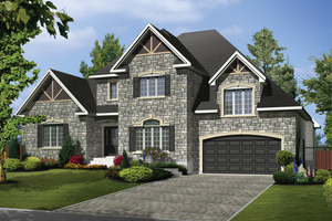Traditional Exterior - Front Elevation Plan #25-4610
