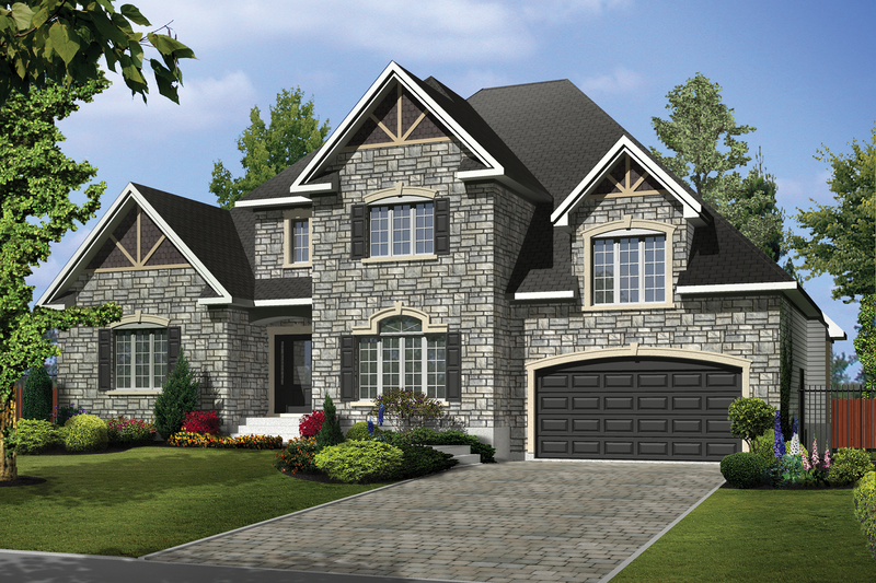 Traditional Style House Plan - 4 Beds 3 Baths 3493 Sq/Ft Plan #25-4610 Exterior - Front Elevation