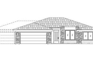 Adobe / Southwestern Exterior - Front Elevation Plan #24-274