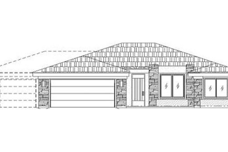 Adobe / Southwestern Style House Plan - 3 Beds 2 Baths 1532 Sq/Ft Plan #24-274 Exterior - Front Elevation