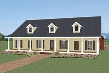Dream House Plan - Front view - 2400 square foot southern home