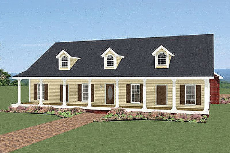 Farmhouse Style House Plan - 4 Beds 3 Baths 2440 Sq/Ft Plan #44-187