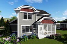 House Plan Design - Craftsman Exterior - Rear Elevation Plan #70-1415