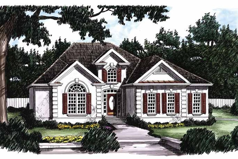 Mediterranean Exterior - Front Elevation Plan #927-62