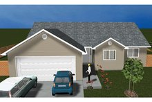 Ranch Exterior - Front Elevation Plan #1060-14