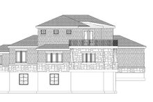 Architectural House Design - Prairie Exterior - Rear Elevation Plan #937-1