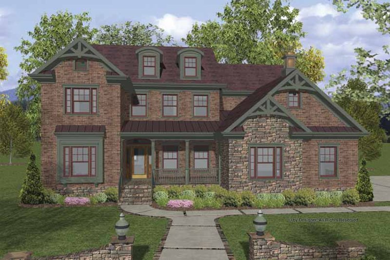 Traditional Exterior - Front Elevation Plan #56-678 - Houseplans.com