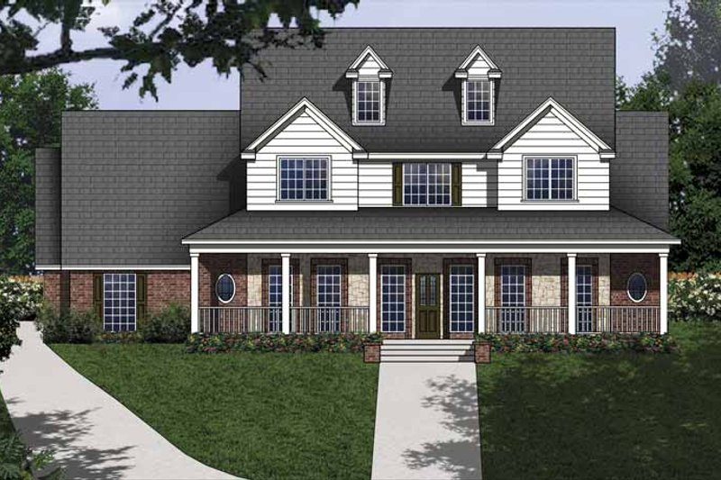 Dream House Plan - Country Exterior - Front Elevation Plan #62-152