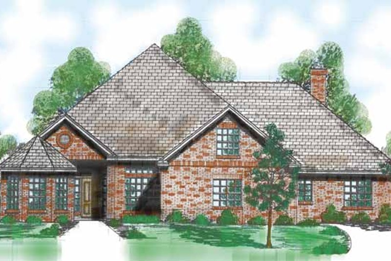 Architectural House Design - Traditional Exterior - Front Elevation Plan #52-270