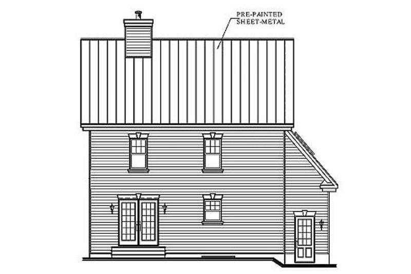 Traditional Exterior - Rear Elevation Plan #23-375 - Houseplans.com