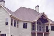 European Style House Plan - 4 Beds 5 Baths 3907 Sq/Ft Plan #437-70 Exterior - Rear Elevation