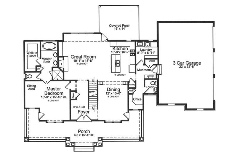 Traditional Floor Plan - Main Floor Plan Plan #46-852