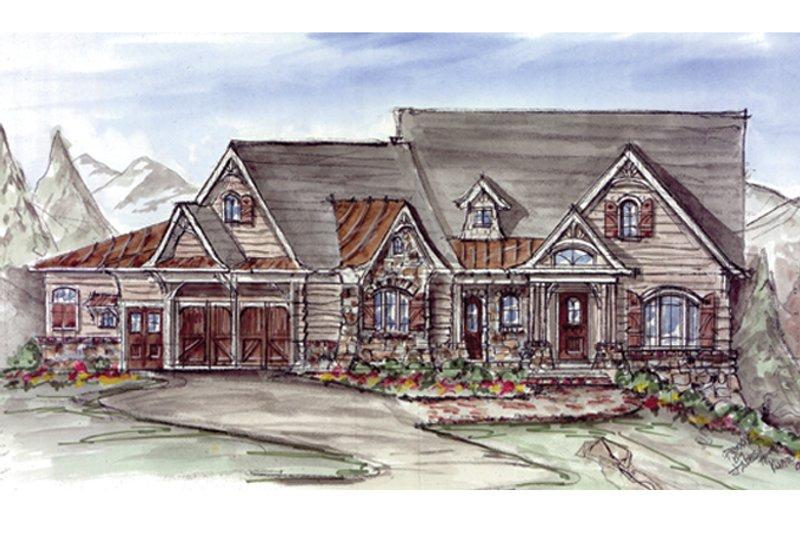 Craftsman Exterior - Front Elevation Plan #54-368 - Houseplans.com