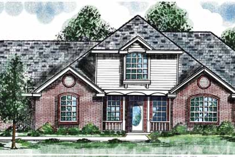 Traditional Exterior - Front Elevation Plan #52-261 - Houseplans.com