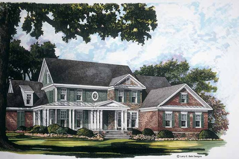 Architectural House Design - Country Exterior - Front Elevation Plan #952-248