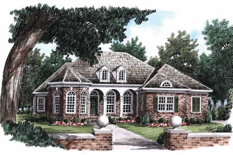 Country Exterior - Front Elevation Plan #927-778
