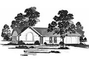 Ranch Style House Plan - 3 Beds 2 Baths 1328 Sq/Ft Plan #36-363 Exterior - Front Elevation