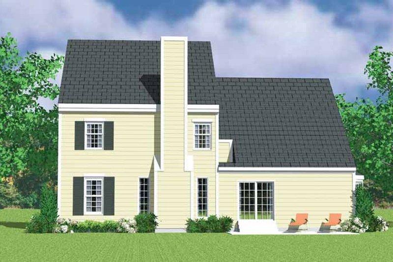 Country Exterior - Rear Elevation Plan #72-1121 - Houseplans.com